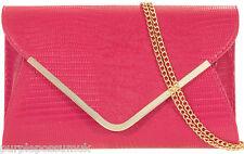 Pink Clutch Bag Ladies Rose Pink Oversized Envelope Evening Shoulder Bag Prom