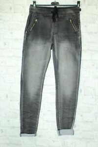 Made in Italy Freizeit Jeans Hose Jogger Style Gr. XS schwarz Vintage washed