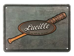 Metal Sign - Lucille - The Walking Dead