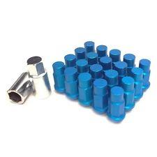 M12 X 1.5mm Blue Aluminum Wheel Lug Nuts 20 Piece w/ Lock Civic Accord Integra