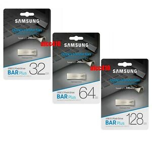 Samsung 32GB 64GB 128GB 256GB USB Flash Drive BAR Plus USB3.1 BE3 C