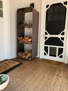 Firewood holder 1800x750mm Corten Steel Fire Wood Log Box Holder / Storage