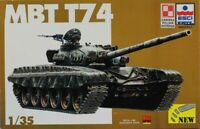 ESCI ERTL 1:35 Soviet MBT T-74 Plastic Model Kit #5024