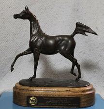 Arabian Horse Bronze Trophy by Jill McKinney. Canadian National Res. Champ