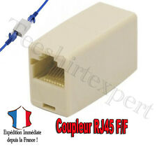 Adaptateur Coupleur rallonge RJ45 femelle/femelle- Ethernet adapter coupler FF