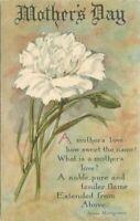 Artist Impression Mother's Day Arts Crafts Flower Saying C-1910 Postcard 10997