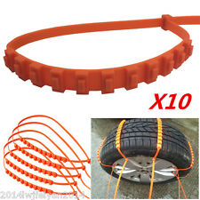 10pc Car Truck Snow Wheel Tyre Tire Antiskid Chains Thickened Tendon Slip Chains