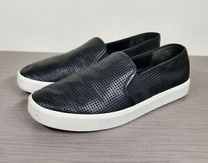 Vince Blair 5 Slip-On Sneaker, Black Leather, Womens Various Sizes