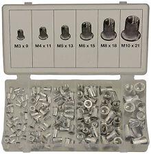 Surtido de 150 Remaches Roscados Rosca Tuerca de Aluminio M3 - M10 - Bgs 14127
