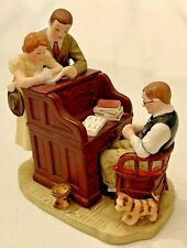 """Vintage Norman Rockwell """"The Marriage License"""" Figurine - Gorham 1982 - Retired"""