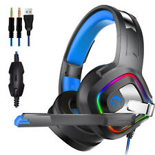 Gaming Headset Noise Cancelling Mic w/LED Headphones for PS4 Xbox one X 360 E