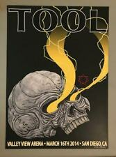 Tool San Diego California March 16th 2014 Ultra Rare Poster Adam Jones