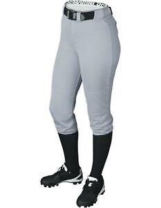 DeMarini Womens Fierce Belted Softball Pants Grey Large WTD3040
