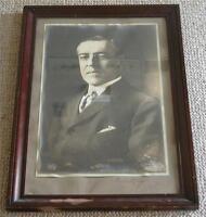 Large President WOODROW WILSON Signed Photo Autographed Framed Vintage PSA/DNA