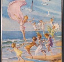 """SEA-SHORE FAIRIES"" DANCE IN BREEZE AT BEACH,TARRANT FANTASY,MEDICI POSTCARD"