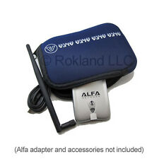Alfa U-Bag blue soft neoprene carry case/holder for WiFi adapters digital camera