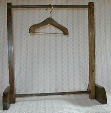 "Solid Wood 8"" - 10"" Doll Clothes Rack -Special Walnut Stain"