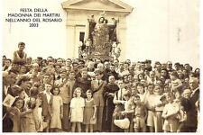 MOLFETTA - FESTA DELLA MADONNA DEI MARTIRI NELL' ANNO DEL ROSARIO 2003