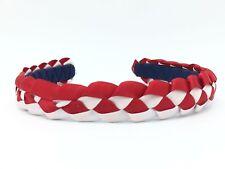 Blue Woven Headband, Red White Braided Headband, Patriotic Headband, 4th Of July