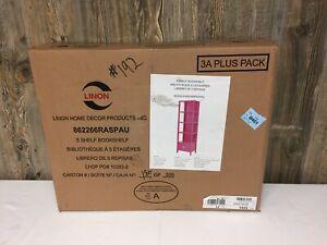Missing Box B Linon 862266RASPAU 5 Shelf Bookshelf Pink BOX A ONLY