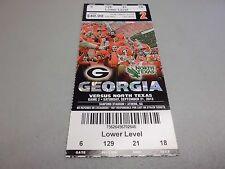 North Texas Eagles vs Georgia Bulldogs 9-21-2013 Football Game Ticket Stub