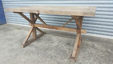 NEW FRENCH INDUSTRIAL COUNTRY RECLAIMED SHABBY TIMBER DINING TABLE  (111-11)