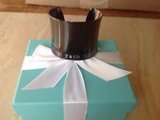 Tiffany& co 1837 Titanium extra wide cuff bracelet never worn nib large last one