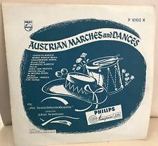 "LP Vinyl 10"" rar AUSTRIAN MARCHES AND DANCES Alte Deutschmeisterkapelle Philips"