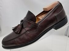 Johnston Murphy Loafers Mens Moc Toe Tassel Brown Leather Slip On Shoes Italy 8M