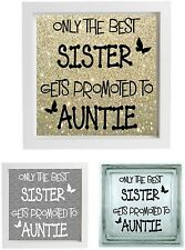 Vinyl Sticker 20 x 20cm DIY Box Frame ONLY THE BEST SISTER/MUM/DAD choose name