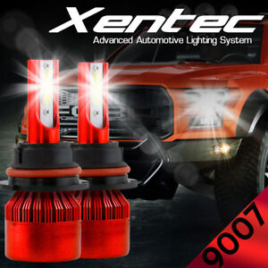 XENTEC 9007 HB5 LED Headlight Low / High Dual Beam Bulbs Kit 488W 7600LM 6000K