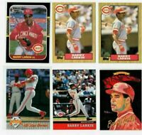 BARRY LARKIN HOF 1987 11-Card Lot ROOKIES (3) INSERTS PREMIUMS ONLY  REDS!
