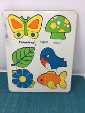 Fisher Price Puzzle  Nature 552 Pressed Wood Board from 1970's vintage