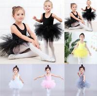 New Girl Kids Ballet Tutu Dress Gymnastics Leotard Ballerina Dancewear Costume