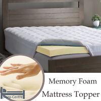 Memory Foam Mattress Topper 6FT Super King Size 182cm x 200cm 1 Inch Depth