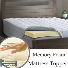 Memory Foam Mattress Topper 6FT Super King Size 182cm x 200cm 1 Inch Depth