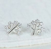 925 Sterlingsilber Ohrstecker Damen Ohrringe Baum Lebens Symbol Silber Filigran