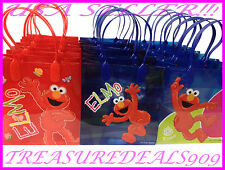 12 PC ELMO SESAME STREET GOODIE BAGS PARTY FAVORS CANDY  BIRTHDAY LOOT GIFT BAG
