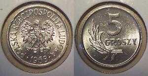 1968 POLAND 5 GROSZY - Y# A46