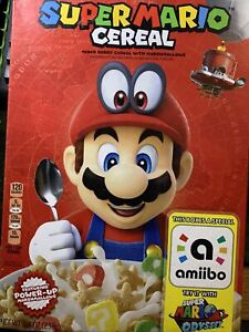 Kellogg's Super Mario Cereal Limited Edition with Nintendo Amiibo Sealed