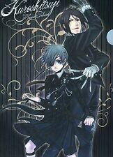 clear file folder kuroshitsuji Black Butler anime Sebastian Michaelis Ciel