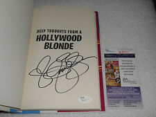Jennie Garth Signed Deep Thoughts From A Hollywood Blonde Book JSA #M64111 90210