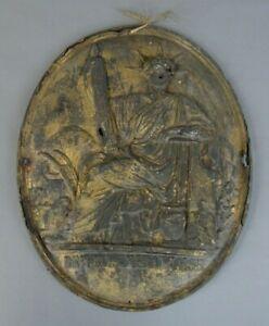 ancienne plaque de notaire huissier en tôle 19ème république française