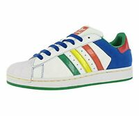 Adidas Mens cb Low Top Lace Up Fashion Sneakers, White/Multi-color, Size 11.5