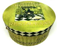 Vintage Hotel Hedgewick Restaurant Hat/Wig Box with Rope Handle Round Carry Case