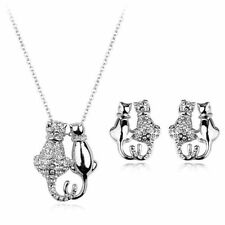 White Gold Plated Silver Coloured Fashion Jewellery Sets