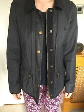 Jack Wills Navy Wax Jacket With Liner Size 8 Excellent Condition