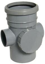 Tubo de acceso Floplast SP274 110 mm Conector Hembra/pletina jefe inspección Gris