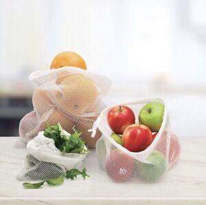 Reusable Fruit & Vegetable Produce Mesh Bags 3 Pack