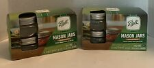 Lot Of 2 Ball Mason jars Wide Mouth Half Pint Canning With Lids 8oz Pack Of 4